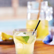 Stok fotoğraf: Glass of homemade lemonade
