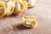 Handmade italian tortellini pasta — Stock Photo