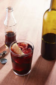 Kalimotxo wine and cola mixture glass — Stock Photo