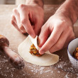 Preparing vegetable dim sums — Stock Photo #40223277