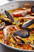 Typical spanish seafood paella — Foto de Stock