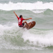 PHUKET, THAILAND - SEPTEMBER 15: unidentified surfer races the Quiksilver Open Phuket Thailand on September 15, 2012 at Patong Beach in Phuket, Thailand — Stock Photo #13046000