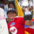 Stock Photo: PHUKET, THAILAND - Anissa Flynn celebrate winning in the Quiksi