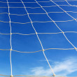 White football net, blue sky — 图库照片 #13192315