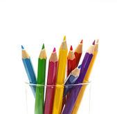 Vario colore matite isolati su bianco — Foto Stock