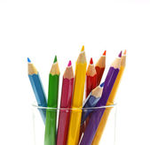 Various colour pencils isolated on the white — ストック写真