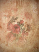 Vintage rose , Old paper background — Zdjęcie stockowe