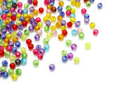 Colorful beads isolated on white background — Stock Photo