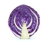A half of purple cabbage — Stock Photo