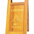 Royalty-Free Stock Photo: Sign showing warning of caution wet floor