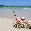 Stock Photo: Buoys on sand beach, Patong beach Phuket Thailand