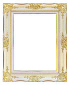 White gold picture frame — Стоковое фото