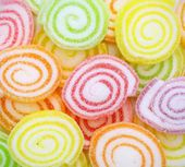 Close-up of colorful candy on white background. — Stock Photo