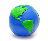 Earth made of clay — Stock Photo