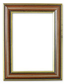 Wood frame with gold edges — Foto de Stock