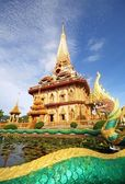 Pagoda in wat chalong phuket — Stock Photo