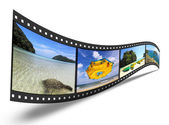 3D film strip with nice pictures — Stock Photo