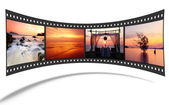 3D film strip with nice pictures of andaman scene — Stock Photo