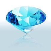 Brilliant blue shiny diamond — Stock Photo