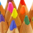 Close up of color pencils over white background — Foto Stock