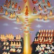 Traditional Thai style painting art on temple wall,Thailand.Gene — Stock Photo