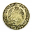 Stock Photo: Old Coin of Mexican1884