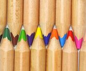 Set of color pencil isolated on white background — Стоковое фото