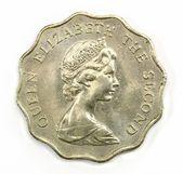 Hong Kong coins 1980, 2 dollars — Zdjęcie stockowe