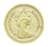 English one pound coin of 1983 — Stock Photo