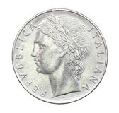 100 Lire Coin of Italy of 1975 — Stock Photo