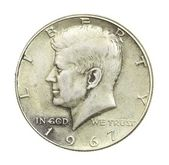 John F Kennedy Half Dollar — Stock Photo