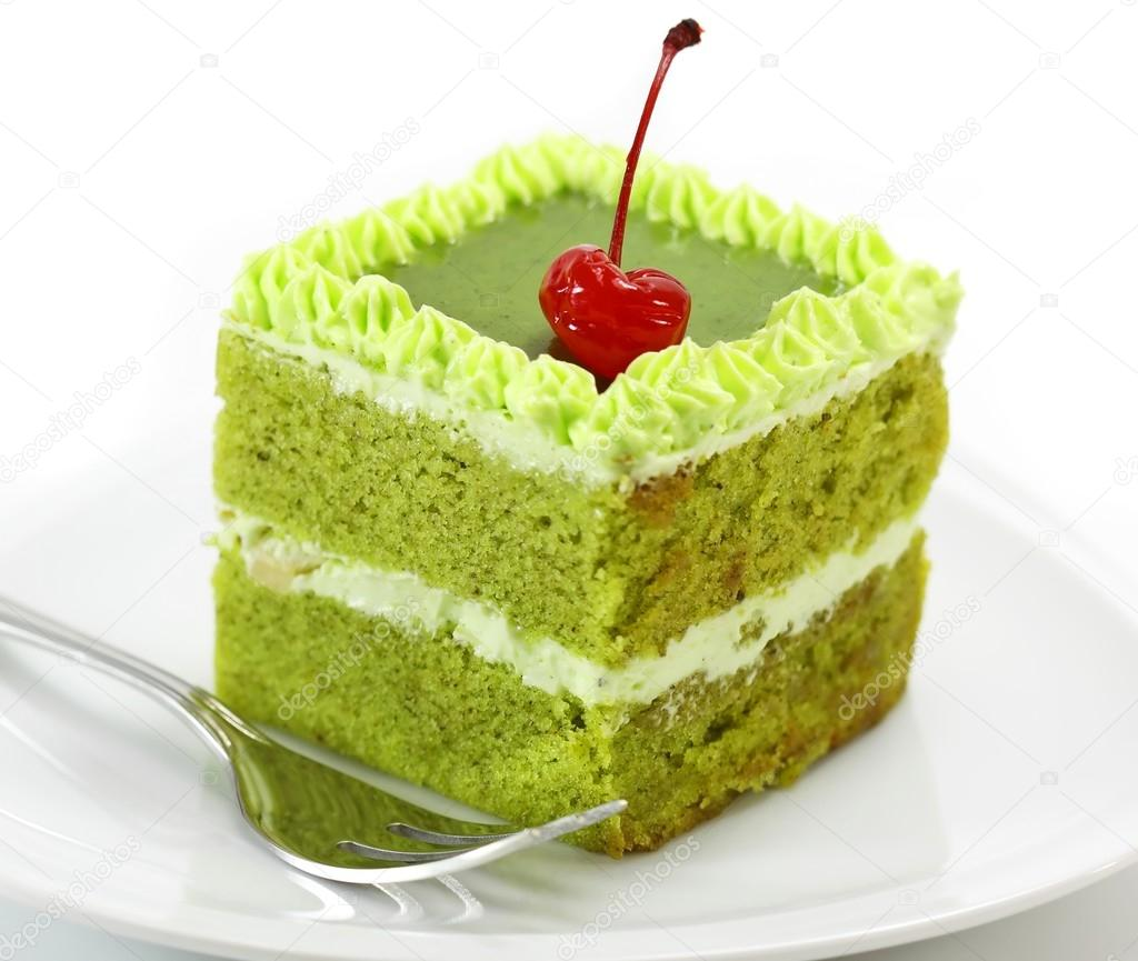Green tea cake — Stock Photo #13302248