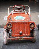 Antiguo coche de pedales — Foto de Stock