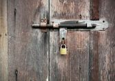 Old grunge door lock — Stock Photo