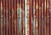 Old zinc fence background — Stock Photo