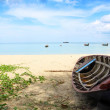 Boat on the beach at Nai yang beach, Phuket Thailand — Stock Photo