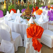 Events preparation for dinner, table appointment — Stok fotoğraf