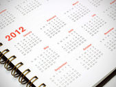 A 2012 calendar — Stock Photo