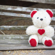Teddy bear with red heart — Stock Photo #13444042
