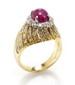 Ruby diamond ring — Stockfoto