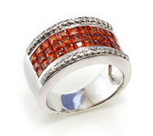 Ring with the ruby — Stock Photo