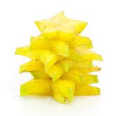 スライスの星リンゴ果実のスタック — ストック写真