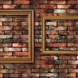 Stock Photo: Grunge wall and two frames for fill picture in