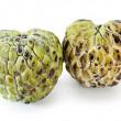 Custard apple on white background — Stock Photo