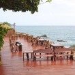 Table with a beautiful sea view . Thailand . — Stock Photo