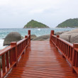 Koh tao wood Bridge Island at the southern of Thailand — Stock Photo