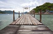 Nang-Yuan Wood Bridge Island at the southern of Thailand — Stock Photo
