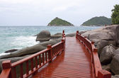 Koh tao wood Bridge Island at the southern of Thailand — Zdjęcie stockowe