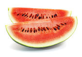 Watermelon slice isolated on white background — Стоковое фото