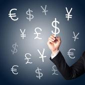 Hand tekenen valuta tekenen — Stockfoto